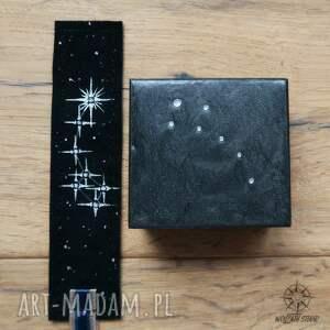 czarne zakładki zakładka zestaw prezentowy nocne niebo: małe