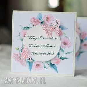 zaproszenia różowe drewniane zaproszenie dla rodziców
