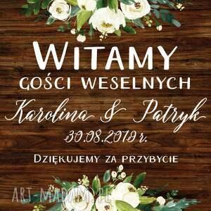 atrakcyjne zaproszenia plakat obraz powitalny 50x70 cm