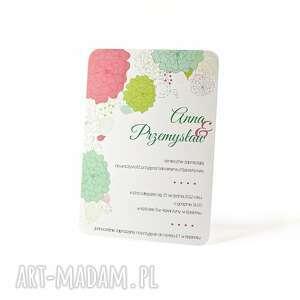 ręcznie wykonane zaproszenia ślub zaproszenie kwiaty no2 115x165mm b6