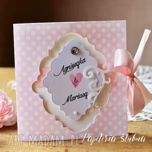 efektowne zaproszenia zaproszenie ślubne różowe -