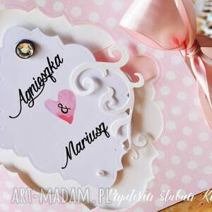 różowe zaproszenia zaproszenie ślubne -