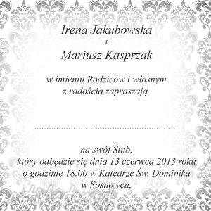 ślub zaproszenia czerwone ze zdjęciem