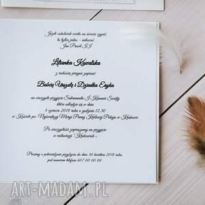 pod choinkę zaproszenie białe zaproszenia na pierwszą