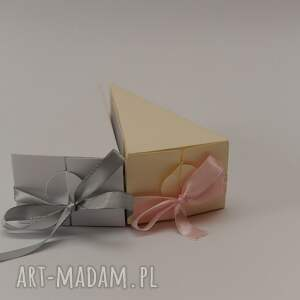 gustowne zaproszenie podziękowanie kawałek tortu - dla