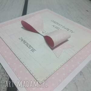 kokarda zaproszenie kokardowe w rózu