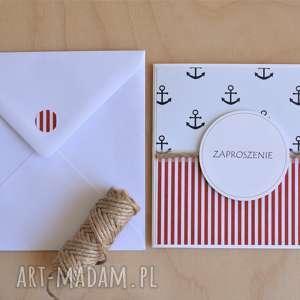 ręczne wykonanie zaproszenie marynarska lub kartka na urodziny