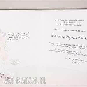 Papierowe Czary Mary zaproszenie: na Komunię wzór 22 - zaproszenia komunijne komunia