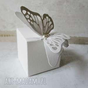 handmade zaproszenie pudełko pudełeczka podziękowania dla gości