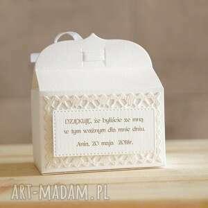 ręcznie robione zaproszenie podziękowanie pudełeczka
