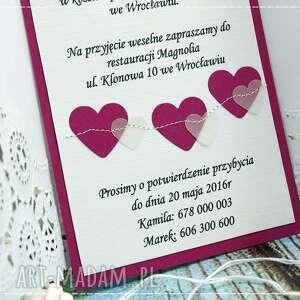 fioletowe zaproszenie ślub zaproszenia na ślub- perfect love