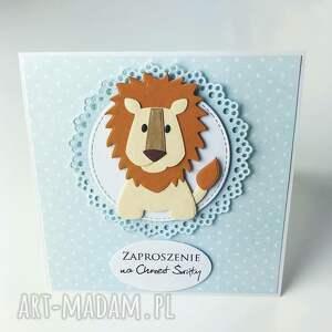 unikatowe zaproszenie zaproszenia z lwem