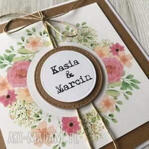 różowe zaproszenie ślub zaproszenia z wiankiem