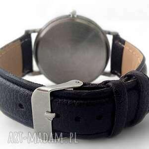 arbuz zegarki czerwone - skórzany zegarek z dużą
