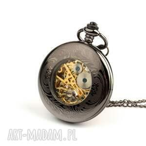 wyjątkowe zegarki zegarek ażur iv (dark) black dial