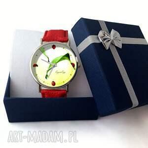 zielone zegarki skórzany biedronki - zegarek z dużą