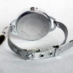czarne zegarki modny black & white - elegancki zegarek