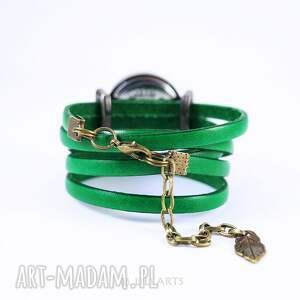 oryginalne zegarki bransoletka, zegarek - biały wilk