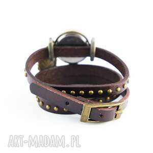 niesztampowe zegarki zegarek bransoletka, biały koń