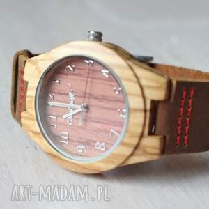 drewniany zegarki czerwone damski zegarek linnet