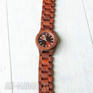 białe drewniany damski zegarek seria mini