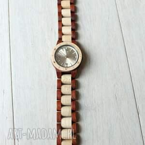 beżowe zegarki damski drewniany zegarek seria mini