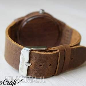 brązowe zegarki drewniany damski zegarek canary