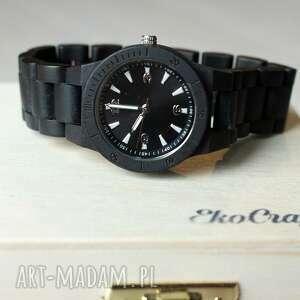 drewniany zegarki czarne damski zegarek seria mini
