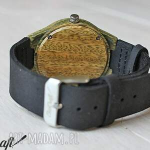 czarne zegarki ekologiczny damski drewniany zegarek leaf