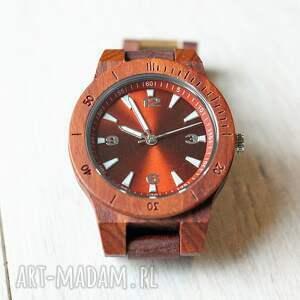 zegarek zegarki czerwone damski drewniany seria mini