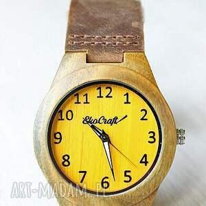 ręcznie zrobione zegarki zegarek damski drewniany canary