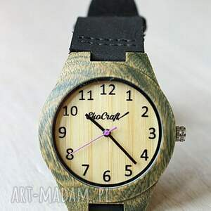 ręcznie wykonane zegarki zegarek damski drewniany leaf