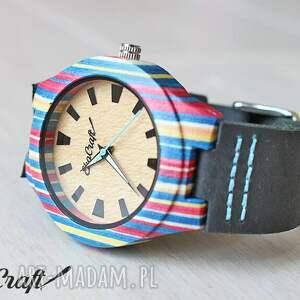 deska zegarki niebieskie damski drewniany zegarek parrot