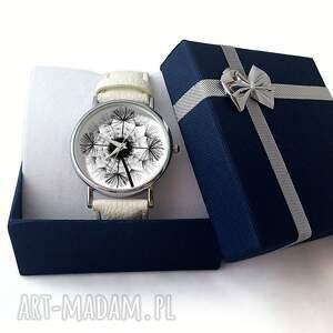 czarne zegarki dmuchwiec dmuchawiec - skórzany zegarek