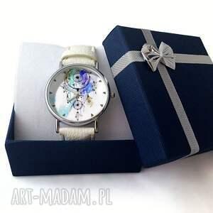niebieskie zegarki dreamcatcher - skórzany zegarek