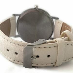 zegarek zegarki białe dreamcatcher - skórzany
