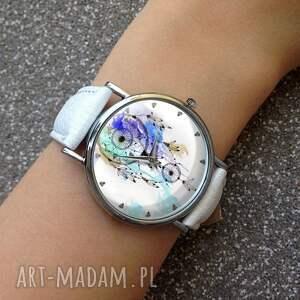 wyjątkowe zegarki zegarek dreamcatcher - skórzany