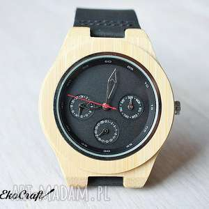 zegarek zegarki czerwone drewniany, bambusowy