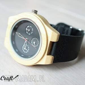 czarne zegarki drewniany drewniany, bambusowy zegarek
