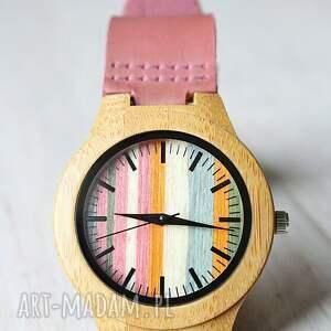 zegarki drewniany damski zegarek flamingo