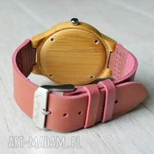 beżowe zegarki kobiecy drewniany damski zegarek flamingo