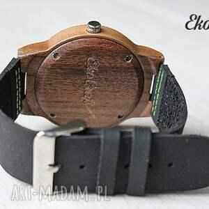 czarne zegarki drewniany zegarek oak eagle