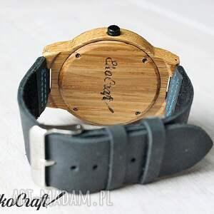 turkusowe zegarki drewniany zegarek walnut eagle owl