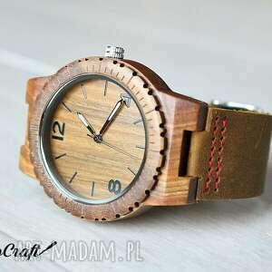 zegarki: drewniany zegarek falcon - ręcznie robione