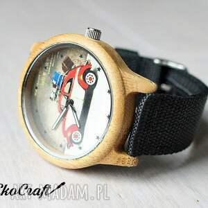 beżowe zegarki drewniany zegarek garbus