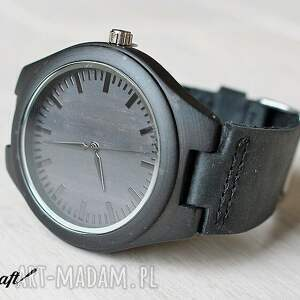 handmade zegarki bambusowy drewniany zegarek ebony black