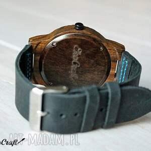 czarne zegarki drewniany zegarek blue hawk