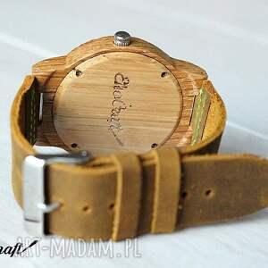 brązowe zegarki drewniany zegarek oak winter