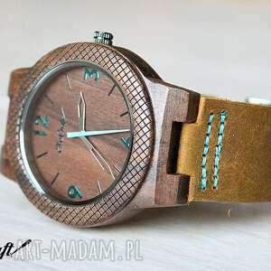 hand made zegarki zegarek drewniany walnut winter