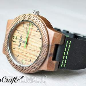 zegarek zegarki zielone drewniany oak eagle
